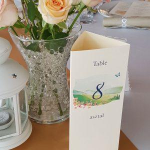 esküvői menü 3 szög