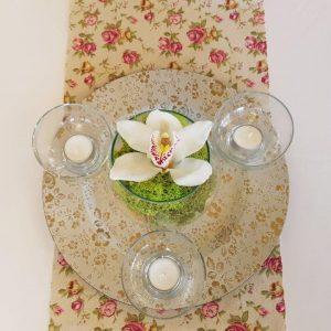 Virágos Vintage asztali futó