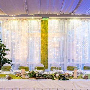 Nagyméretű esküvői fényfüggöny bérlés