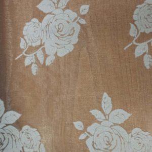 Organza rózsás asztali futó