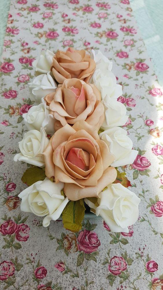 esküvői tartós virág kerámiával