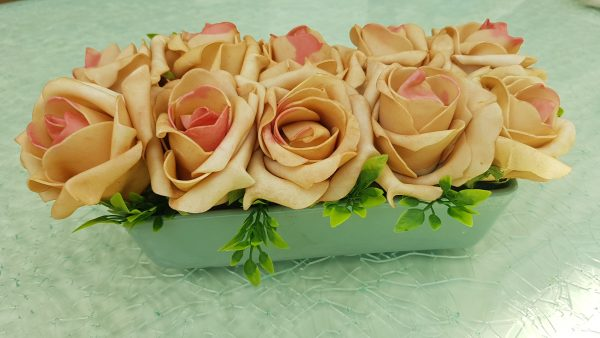 esküvő tartós virág kerámiával