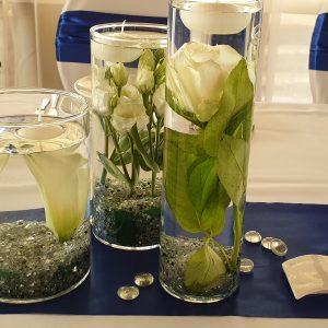 Esküvői váza bérlés (3 darabos)